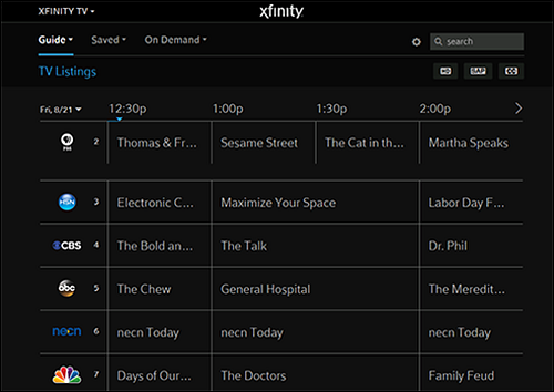 Schedule A Recording On Web Or Mobile Xfinity On Campus